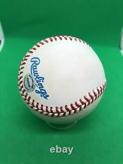 NY Yankee Bernie Williams Autographed Official American League Baseball! COA