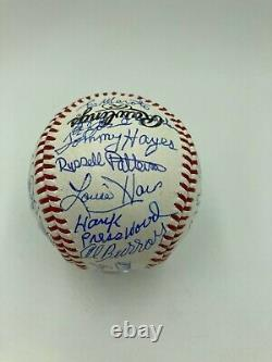 Negro League Legends Multi Signed Rawlings Official Baseball 30+ Signatures RARE