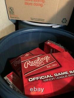New & Boxed 10 Dozen Rawlings Official Minor League Game Baseballs