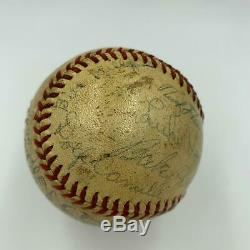 Nice 1939 Brooklyn Dodgers Team Signed Official National League Baseball JSA COA