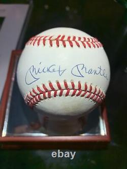 Official American League Rawlings Signed Mickey Mantle Baseball Jsa Coa Letter