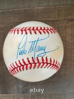 Pedro martinez autographed baseball (Rawlings official American League ball)