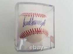President Donald Trump Autograph/Signed Official Major League BaseballCOA