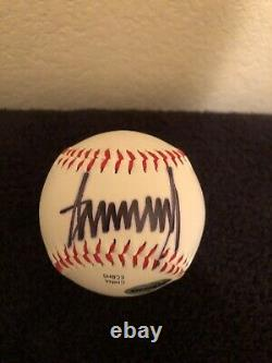 President Donald Trump Autograph/Signed Official Major League Baseball