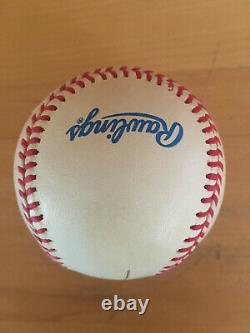 President George W Bush signed Official American League Baseball JSA LOA