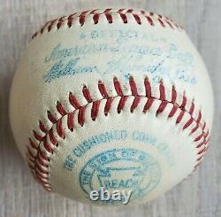 RARE 1948-50 Harridge Official American League Game Baseball Reach with Orig Box