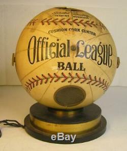 RARE ANTIQUE 1940's OFFICIAL LEAGUE BALL BASEBALL TUBE RADIO STEWARD WARNER