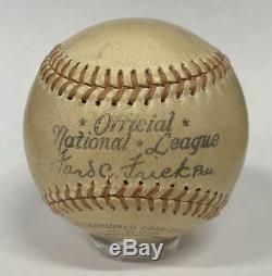 Rare Babe Ruth Single Signed Official National League Baseball. PSA Auto 8