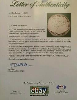 Rare Dizzy Dean Single Signed HOF Rawlings Official League Baseball PSA/DNA