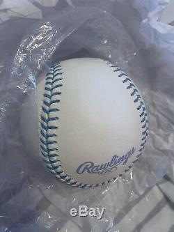 Rawlings Fathers Day Major League Baseball Blue Ribbon Logo Official ROMLB Rare