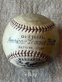 Reach Official Barnard American League Baseball Harry Geisel 1930 World Series