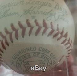 Reach Official No. 0 American League Baseball William Harridge Pres