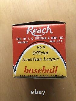 Reach official American League baseball in unopened box- Joseph Cronin
