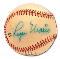Roger Maris Single Signed Official American League Baseball With PSA DNA COA