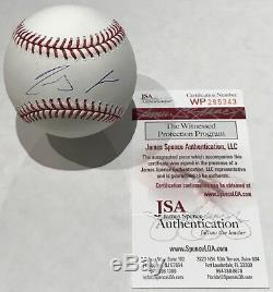 Ronald Acuna Auto Signed Official Major League Baseball Romlb Jsa Witness Coa