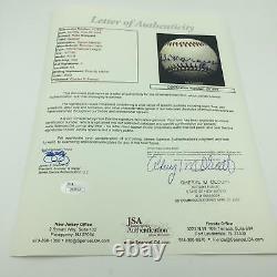 Rube Marquard Single Signed Official National League Feeney Baseball JSA COA