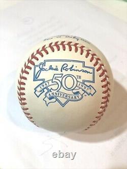 Rush Limbaugh signed Official American League Jackie Robinson Baseball