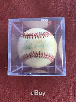 SANDY KOUFAX AUTOGRAPHED OFFICIAL NATIONAL LEAGUE BASEBALL withBALL CUBE