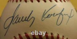 Sandy Koufax Signed Official Rawlings National League Baseball Autograph +Holder