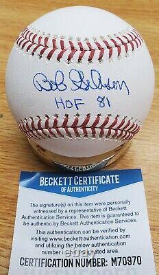 Signed Bob Gibson HOF 81 Official Rawlings Major League Baseball Beckett