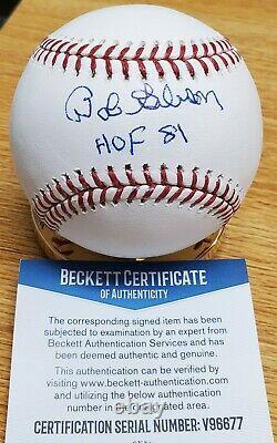 Signed Bob Gibson HOF 81 Official Rawlings Major League Baseball Beckett COA