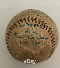 Single signed Babe Ruth autographed official American League baseball
