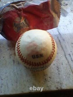 Spalding Brothers USN Official National League Ford C Frick Baseball World War 2