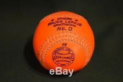 Spalding Charles O Finley Orange Baseball Official Prototype 0 American League