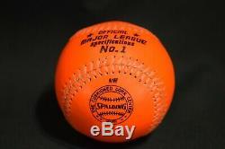 Spalding Charles O Finley Orange Baseball Official Prototype 1 National League