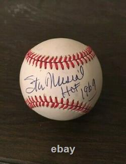 Stan Musial HOF 1969 Signed Official National League Baseball with JSA Letter