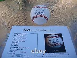 Stephen King Signed Official Major League Baseball Jsa Loa