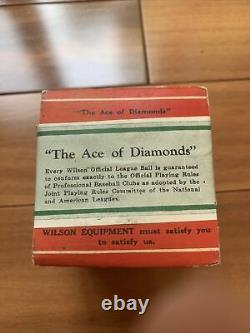 TEW THOS. E. Wilson Official League Baseball New Ball In Box RARE Vintage