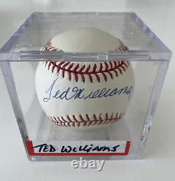 Ted Williams Signed Official Major League Baseball Autographed Ball ACE Vintage