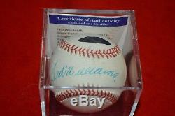Ted Williams Signed Rawlings Official American League Baseball! Psa 8.5 Must See