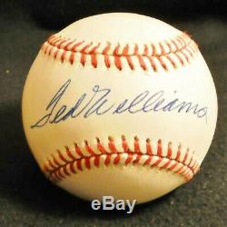 Ted Williams signed autographed Official American League Bobby Brown Baseball