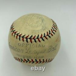 The Finest Lou Gehrig Single Signed Official American League Baseball JSA COA