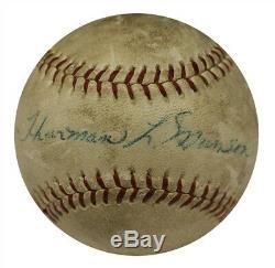 Thurman L. Munson 1969 Rookie Signed Official National League Baseball JSA COA