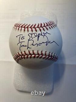 Tom Lasorda Signed Official Major League Baseball LA Dodgers AUTO Autograph
