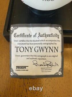 Tony Gwynn. 394 94 Signed Autographed Official League Baseball Padres