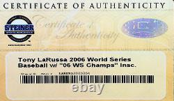 Tony LaRussa Signed Official Major League 2006 World Series Baseball STEINER