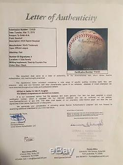 Ty Cobb Autographed Worth Official League Baseball 4 Auto's JSA LOA