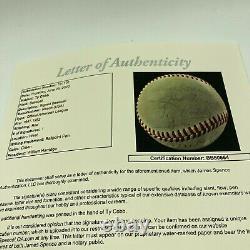 Ty Cobb Single Signed Autographed 1949 Official American League Baseball JSA COA