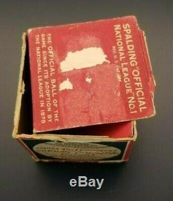 VINTAGE 1928-33 OFFICIAL SPALDING NATIONAL LEAGUE JOHN HEYDLER BASEBALL with BOX