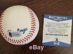 Vin Scully Signed Rawlings Official Major League Baseball (ROMLB) Beckett COA