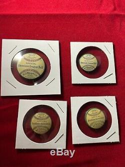 Vintage 1910's Set of 4 A. J. Reach & Co. Official League Ball Pinback Buttons