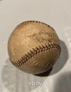 Vintage 1920/30s Goldsmith Official League Baseball Red Black Stitch Signed