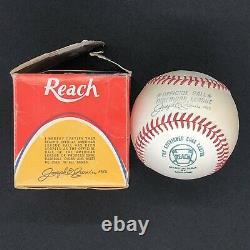 Vintage 1970-72 Reach Cronin Official American League Baseball AL Ball with BOX