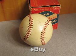 Vintage AG Spalding Official Eastern League Leather Baseball withBox New Old Stock