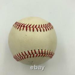Vintage Joe Dimaggio Signed Official American League Macphail Baseball PSA DNA