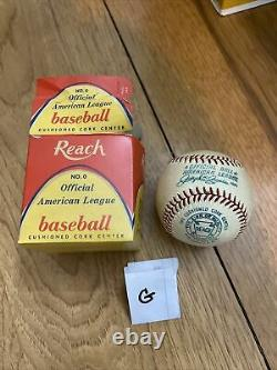 Vintage Reach Official American League Basenall No. 0 1959-73
